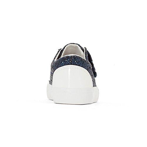 La Redoute Collections Flache Sneakers mit Pailletten, Klettverschluss Marine Pailleten