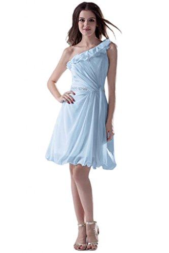 strisce imbottito senza per colore pieghettato Sunvary Royal tessuto decorato blu Cocktail donna Sexy di da con reale Blue xwSvFUqp0