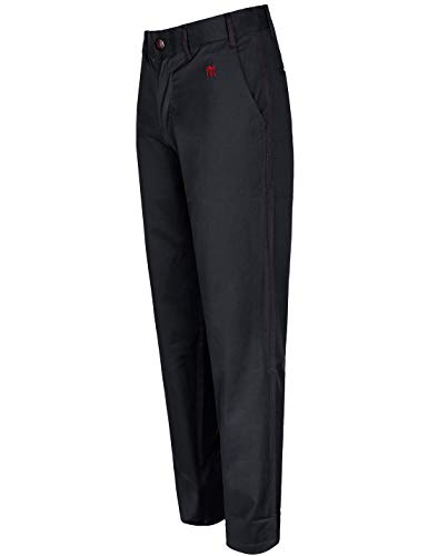 (Men's Golf Pants Tech Stretch Straight Leg Relaxed Fit Tailored Tall Size 46Wx33L Black)