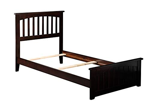 Atlantic Furniture AR8716031 Mission Traditional Bed with Matching Foot Board, Twin XL, Espresso