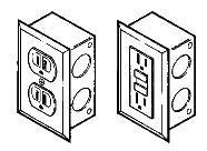Labconco 4844401 Duplex Electrical Receptacle Kits, 115 Volts, 20 amps AC, GFCI