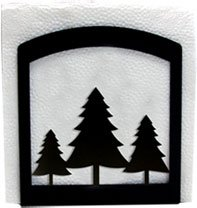 Village Wrought Iron 6 Inch Pine Trees Napkin Holder (Tree Village Pine)