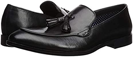 3f64558e5e9 Steve Madden Men's EMEREE Loafer, Black Leather, 8 M US: Amazon.ae ...