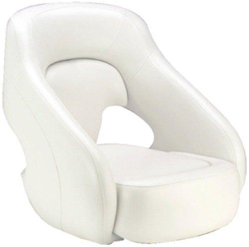 Attwood Avenir Sport SAS Fully Upholstered Boat Seat, Bright White/Bright White