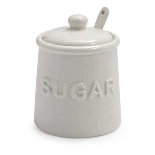 Sur La Table Sugar Bowl with Lid and Serving Spoon AD03199-SG-C