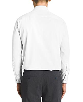 Calvin Klein Men's Non Iron Regular Fit Herringbone Spread Collar Dress Shirt