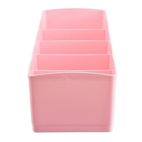 Pink ounona Schublade Organizer Unterw/äsche Aufbewahrungsboxen f/ür Socken BH Taschent/ücher Schreibtisch Tidy Organizer Container