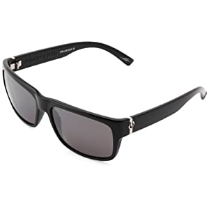 Electric Visual Back Line Polarized Cat Eye Sunglasses, Gloss Black -Grey/Silver Level II  ,57mm