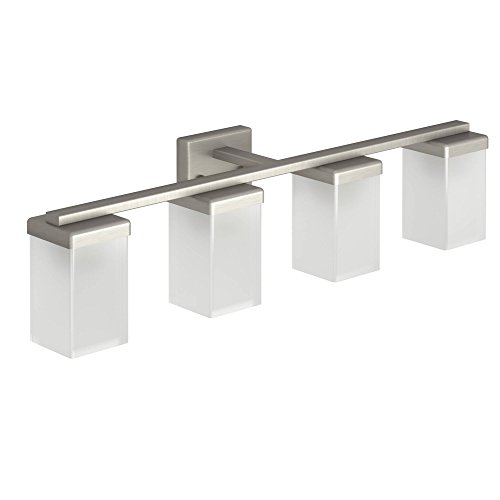 Moen YB8864BN 90 Degree Four Globe Bath Lighting, Brushed Nickel
