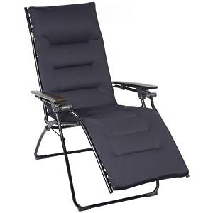 Lafuma Evolution Air Comfort Padded Zero Gravity Chair - New Acier Black