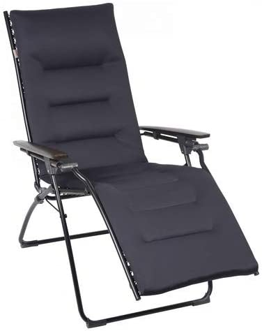 Lafuma Evolution Air Comfort Padded Zero Gravity Chair - New Acier Black