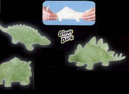 Toysmith Glow Dino Squishimals - Glow In The Dark Dinosaur