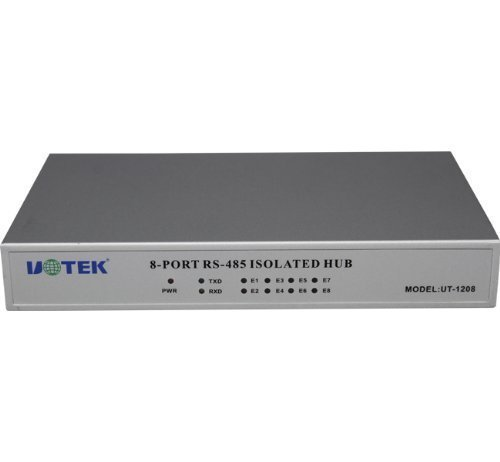 UTEK UT-1208 8port RS-485 Hub (8-port RS-232/485/422 terminal server, in binding post, PhotoElectric isolation (Rs 485 Hub)