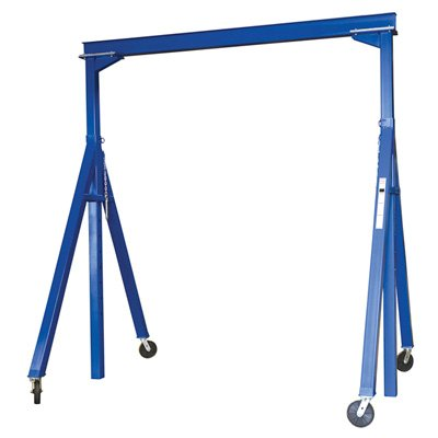 Vestil AHS-8-15-14 Steel Adjustable Height Gantry Crane, 8000 lbs Capacity, Overall W x H (in.) 88-1/2 x 179-1/8, Base Width (in.) 88-1/2, Under I-Beam Usable Height 103 to 169