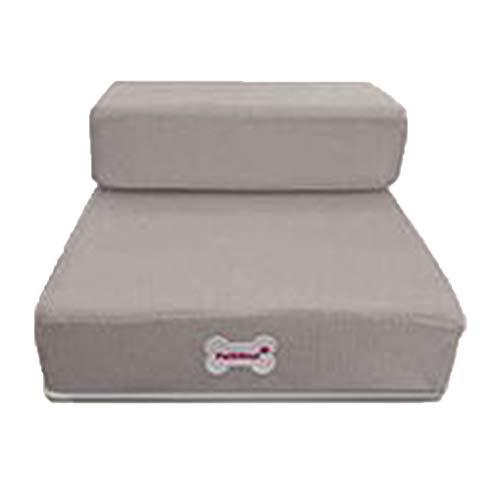 Krastal Luxury Mesh Fold Pet Ramp Stairs for Little Small Dog Puppy Cat Animals Mat Mattress Bed ()