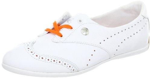 Puma Damesschoenen Engelse Sneaker Met Engelse Veters Voor Dames, Wit / Levendig Oranje