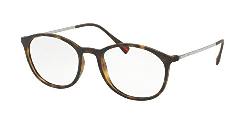 Prada PS04HV Eyeglass Frames U611O1-51 - Havana - Prada Eyeglasses Rossa Linea