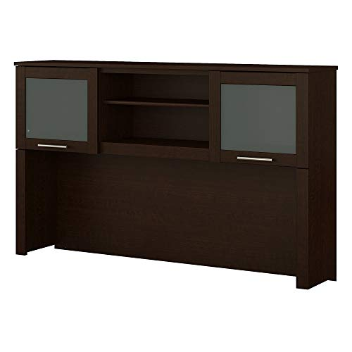 Bush Furniture Somerset 60W Hutch for L Shaped Desk in Mocha Cherry ()