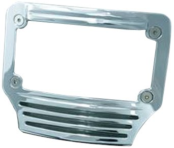 Kuryakyn 3145 Curved Tri-Light LED License Plate Frame (Curved Plate Frame Kuryakyn License)