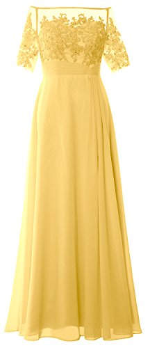 Canary Formal the Dress Women Mother Bride of Shoulder Sleeve Short MACloth the Off Gown nSHYn