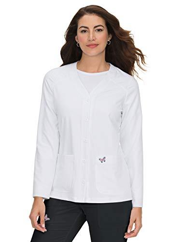 KOI Mariposa Women's Lisa Scrub Jacket White M