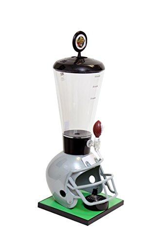 Beer Tubes Grey Football Helmet Beverage Tower Dispenser with Football Tap, 128 oz. Super Tube, FGR-ST-F by Beer Tubes