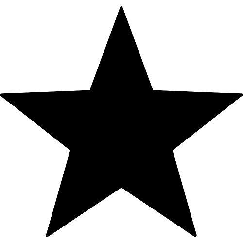 ANGDEST Star Silhouette (Black) (Set of 2) Premium Waterproof Vinyl Decal Stickers for Laptop Phone Accessory Helmet Car Window Bumper Mug Tuber Cup Door Wall Decoration