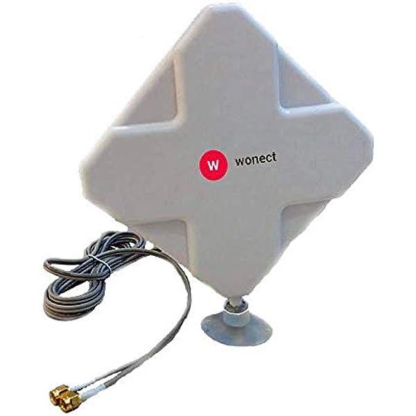 Antena 4G interior Panel 24dBi LTE Interior Exterior Soporte ...