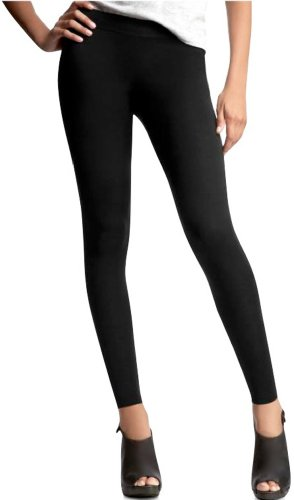 ToBeInStyle Women's Footless Elastic Leggings - One Size - Black ()