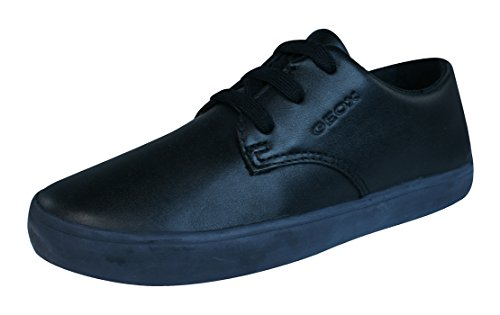 Geox Boys' J Kiwi 75 Sneaker, Black, 35 EU(3.5 M US Big Kid)