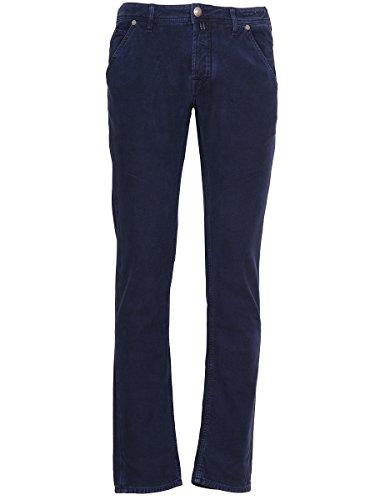 Jacob Cohen Homme PW613334890 Bleu Coton Pantalon