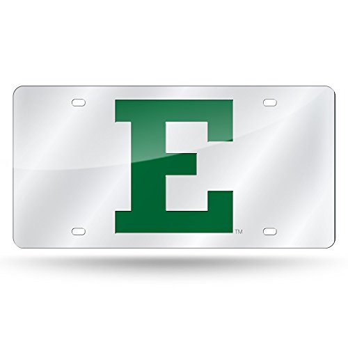 Rico Industries NCAA Eastern Michigan Eagles Laser Inlaid Metal License Plate Tag, Silver