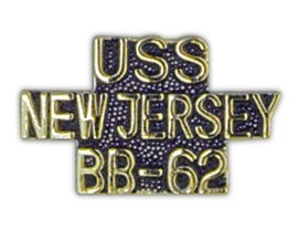 Pc New Jersey - United States Navy USS New Jersey BB-62 Lapel Pin
