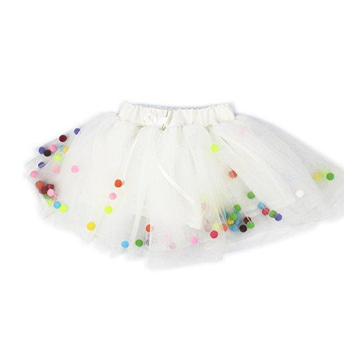 [KAKAKI Infinity Baby Girls TUTU Dress Multi-Layer Tulle Balls Dress for Toddler Girls(White,110)] (Tutu For Toddler)