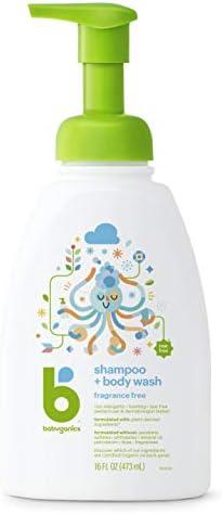 31X686BzMvL. AC - Babyganics Baby Shampoo + Body Wash Pump Bottle, Fragrance Free, Packaging May Vary,16 Fl Oz (Pack Of 3)