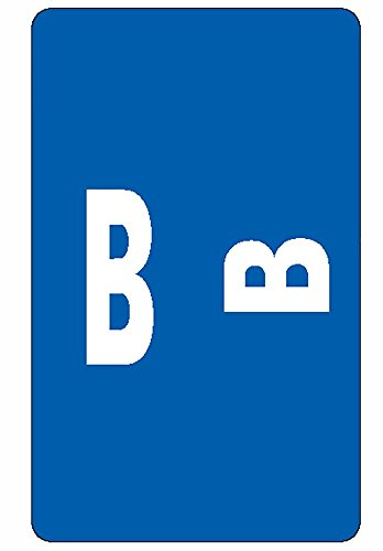 Smead AlphaZ ACCS Color-Coded Alphabetic Labels, Letter B, Dark Blue, 100 Labels per Pack (67172)
