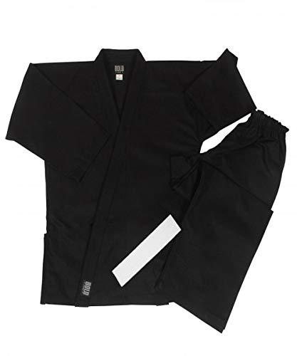 Middleweight 7.5 oz Traditional Karate Uniform - Black Size 4