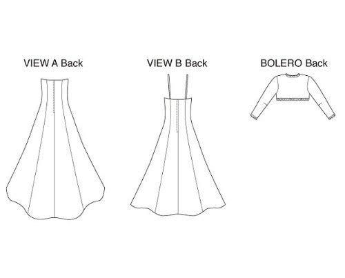 Size XS-S-M-L-XL Kwik Sew K3400 Gowns and Bolero Sewing Pattern