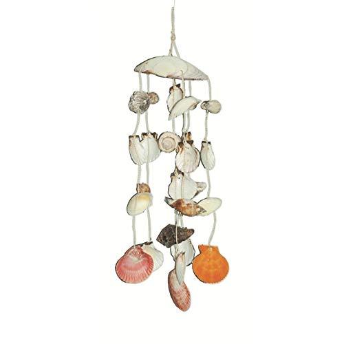 Sonaglio a vento con conchiglie mobili, a tema nautico, decorazione da appendere