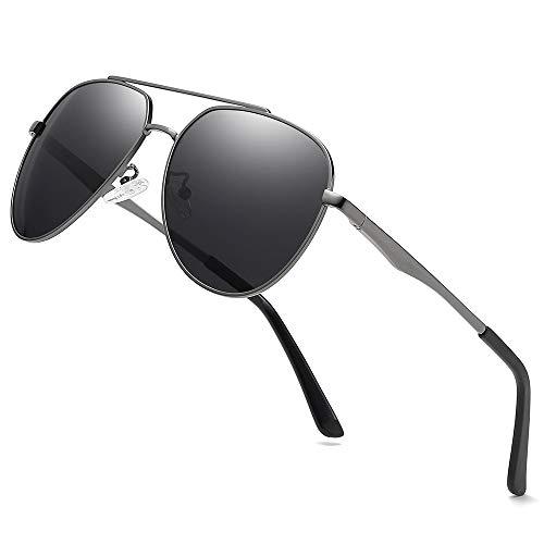 Premium Military Men Aviator Polarized Sunglasses Women Coating Mirror Sun Glasses for Driving,100% ()