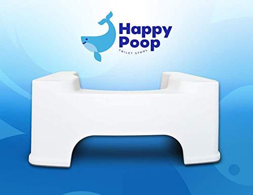 Happy Poop Banco para baño Squatty Estreñimiento Hemorroides Colon Colitis
