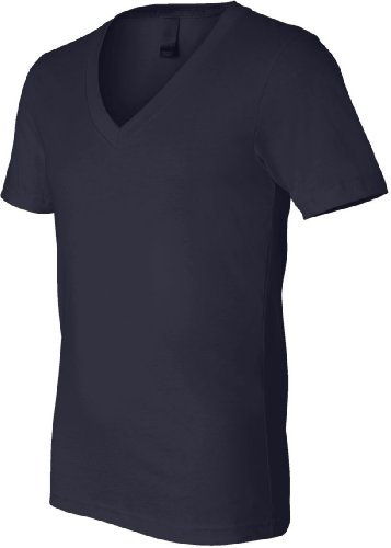 Lienzo V-cuello Unisex de profundidad T-camiseta de manga corta Midnight