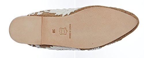 Antik Para Leah cream Beige Cerrada Sandalias Mujer Con Batik Punta rYxvUra