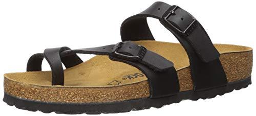 Birkenstock Women's Mayari Oiled Leather Sandal,Black,36 EU/5-5.5 M US