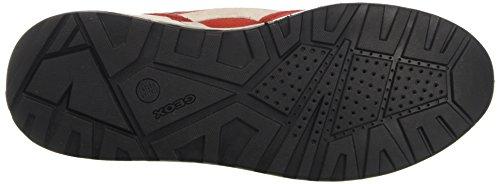 Geox U Goomter C, Zapatillas para Hombre Rojo (red/anthracitec7v9a)
