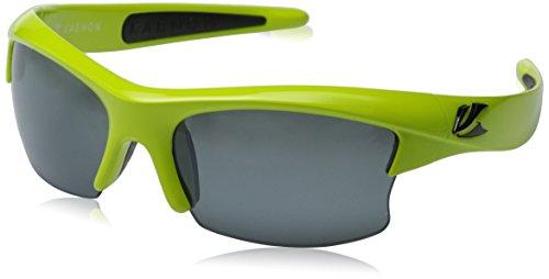 Kaenon Men's S-kore Polarized Shield Sunglasses, Lime Green & Black Logo