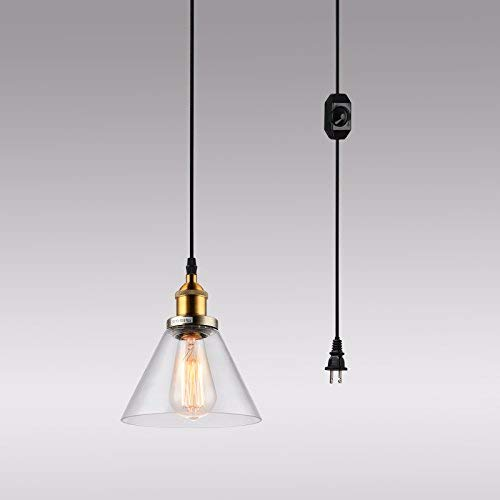 HMVPL Plug-in Pendant Light Fixtures with On/Off Dimmer for sale  Delivered anywhere in Canada