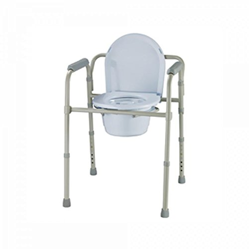 Three-in-One Folding Round Commode