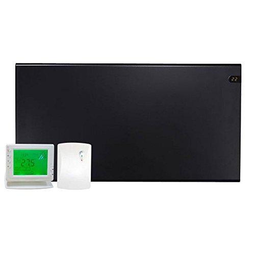 Adax Neo – Radiador eléctrico, delgado, Slimline, de convección, con panel, calentador termostático, montado en la pared con Pantalla Digital LCD.
