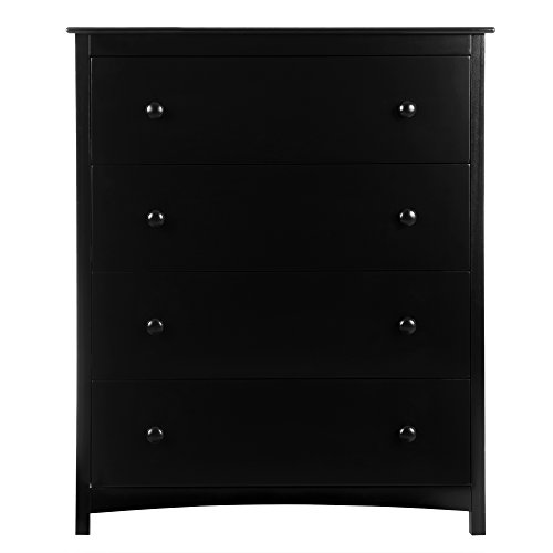 Dream On Me Arlington 4 Drawer Chest, Black by Dream On Me